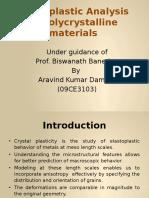 Elastoplastic Analysis of Polycrystalline Materials