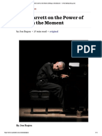Keith Jarrett on the Power of Being in the Moment