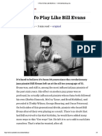 5 Ways to Play Like Bill Evans