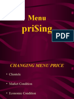 Menu Pricing