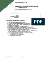 Soluciones a Prueba Test Auditor de Calidad