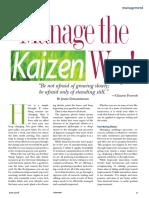 Manage the Kaizen Way