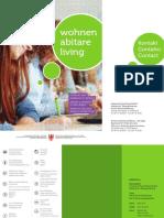 Broschüre Wohnen 2015