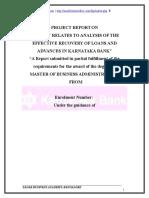 FYP Project Karnataka Bank