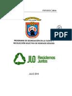 Programa de Segregación en La Fuente y Recolección Selectiva de Residuos Sólidos