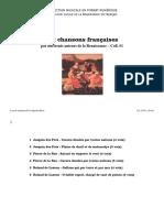 Six chansons françaises Renaissance #1