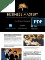 Tony Robbins Business Mastery 2016 London Brochure