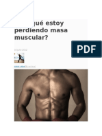 Por Qué Estoy Perdiendo Masa Muscular