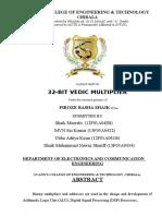 32-Bit Vedic Multiplier