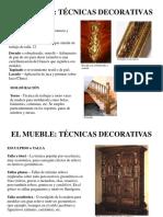 El Mueble, Técnicas, Tipología
