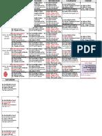 March  Class Schedule