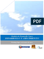 Modelo de Desarrollo Vasco. DESARROLLO Y CRECIMIENTO