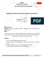 FICHA DE CARACTERIZACION PROCESO DE DIRECCION