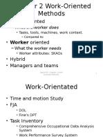 Chapter 2 Work-Oriented Methods (1)