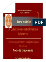 Opcoes curriculares.Competencia