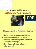 American Drama, Tennessee Williams and Streetcar
