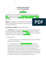 Vesting Agreement Template