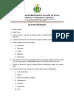 Questionário Primeira Unidade - Usinagem - processos de fabricação III