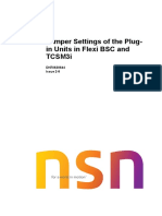 Jumper Settings of the Plug-In Units in FLEXI BSC and TCSM3i