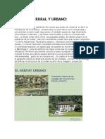 El Habitat Rural y Urbano