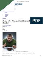 Beans 101 - Cheap, Nutritious and Super Healthy