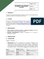 Procedimiento Liquidacion de Nomina y Prestaciones Sociales 1