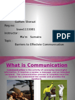 barriers in effictive communication
