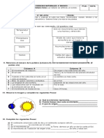 EVALUACIÓN  DIAGNÓSTICA DE CIENCIAS NATURALES  4° básico 2016