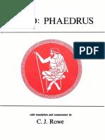 Rowe - Phaedrus. (Classical Texts) -1986
