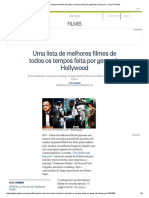Uma Lista de Melhores Filmes de Todos Os Tempos Feita Por Gente de Hollywood - Jornal O Globo