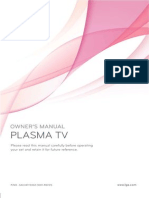"LG User Manual 42"" Plasma 42PJ350"