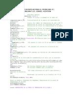 Código en Matlab Para El Problema