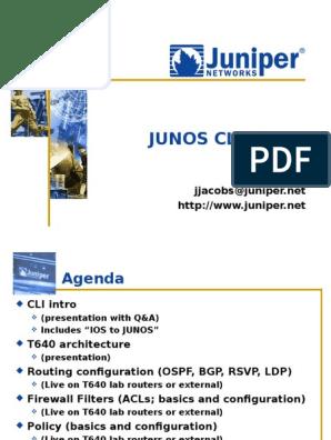 Junos CLI Demo v4 5 | Command Line Interface | File Transfer