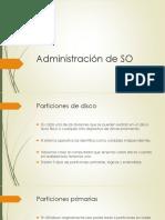 Administración de SO