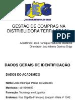 Gestão de Compras Na Distribuidora Terra Brasil