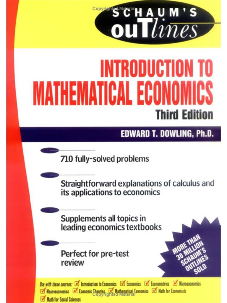 Introduction To Mathematical Economics Pdf