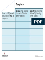 Scheduling Table