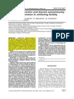 Thyroid Dysfunction and Thyroid Autoimmunity 2015