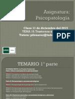 Tema 15 Psicopatología 2015-2016