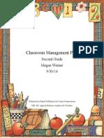 ism 380-classroom management plan