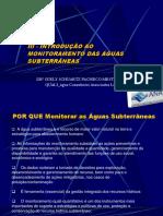 INTRODUÇÃO AO Monitoramento de Águas Subterrâneas