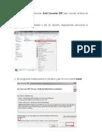 Instalar Aplicación Solid Converter PDF Para Convertir Archivos de PDF a Word