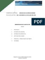planificacion de auditoria de sistemas