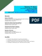 Current Resume 2010