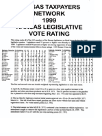 Kansas Senate Legislative Scorecard 1999