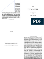 ORDER OF EVENTS IN THE JUDGMENT, Booklet Format,  BY J.N.Andrews