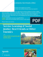 service learning   social justice- best friends or bitter enemies