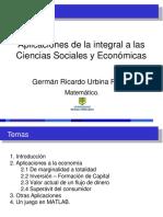 Aplicaciones de la integral a las Ciencias Sociales y Económicas