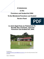 Ngati Kuta and Patukeha Foreshore and Seabed Act Submission