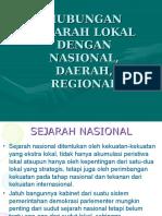 hubungan sejarah lokal dengan nasional daerah regional